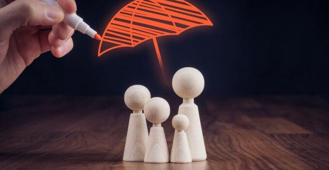 Pions sous un parapluie